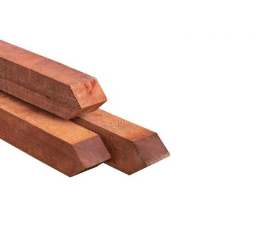 Hardhouten palen ruw 70x70x2750