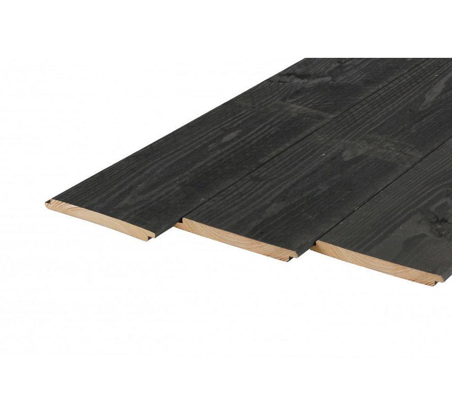 Douglas liplas planken 18x195mm Zwart geimpregneerd