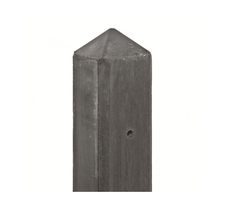 Betonpaal glad met diamantkop 10x10x280cm   Tussenpaal