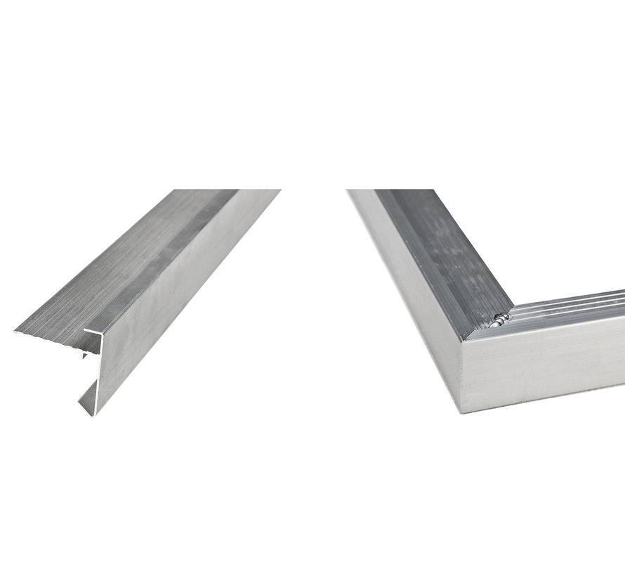 Daktrim recht aluminium 45mm