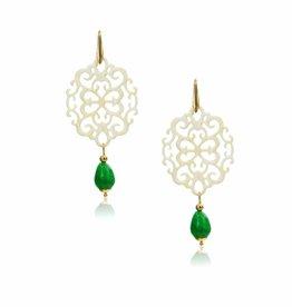 Laila naturel met groene jade