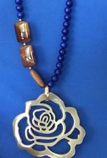 Ithaca van blauwe en bruine agaat