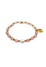 Cerise, cherry quartz en zoetwaterparel