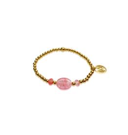 Cerise, cherry quartz en goud