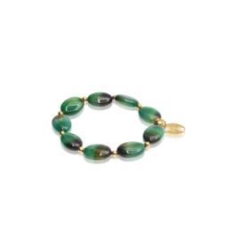 Emerald , Ovale, groenbruine agaat