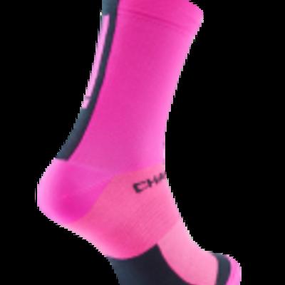 Chapeau!, Lightweight Performance Socks, The Marque, Tall, Hot Pink/Deep Ocean, 44-47
