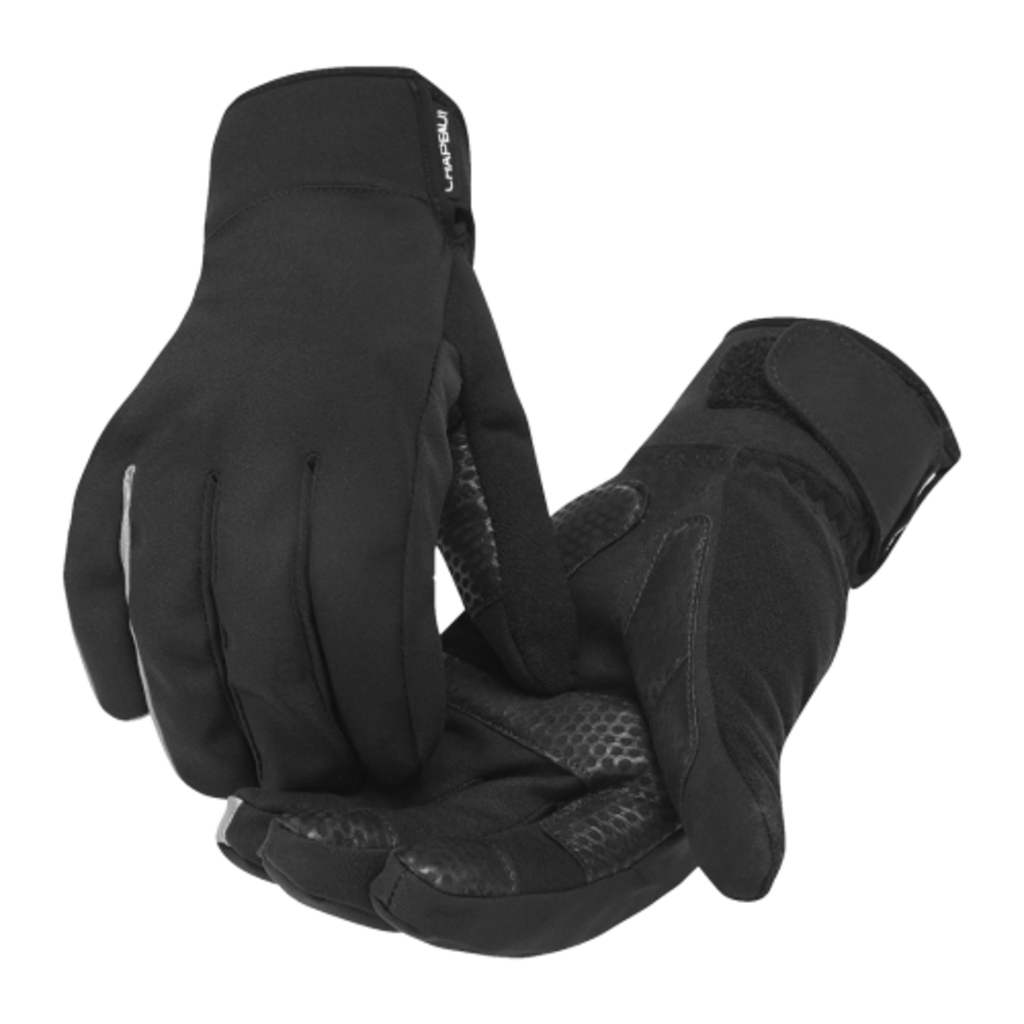 Chapeau!, Winter Gloves, Breathable, Water Resistant, One Colour, Black, XL