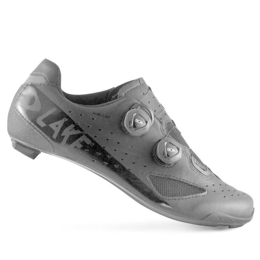 Lake LAKE CX238 Carbon Road Shoe | Black | Size 43