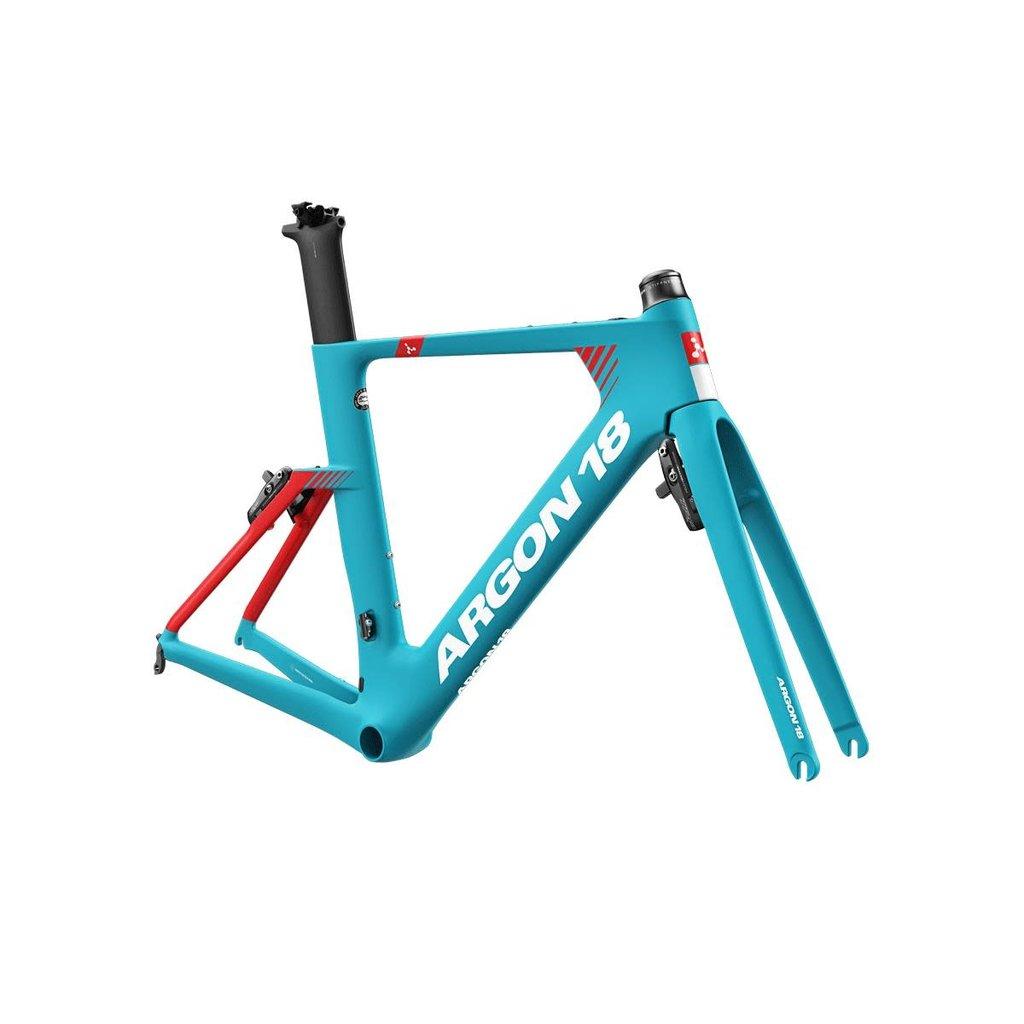 argon18 Argon 18 E-117 Triathlon Rim Brake Frameset Turquoise/ Red Large. (Custom Build Available)