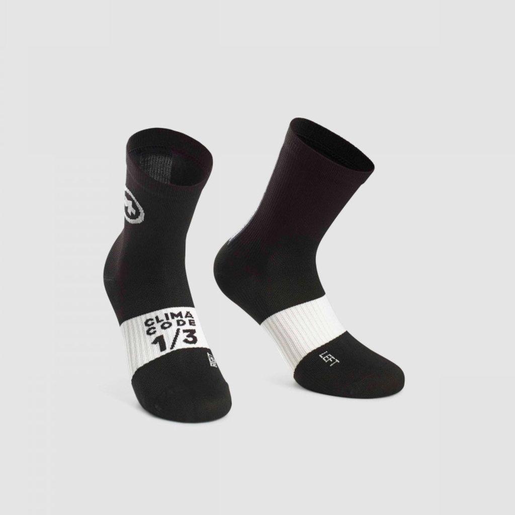 assos Assos Summer Sock Black Series - Size: 2 (43-46)
