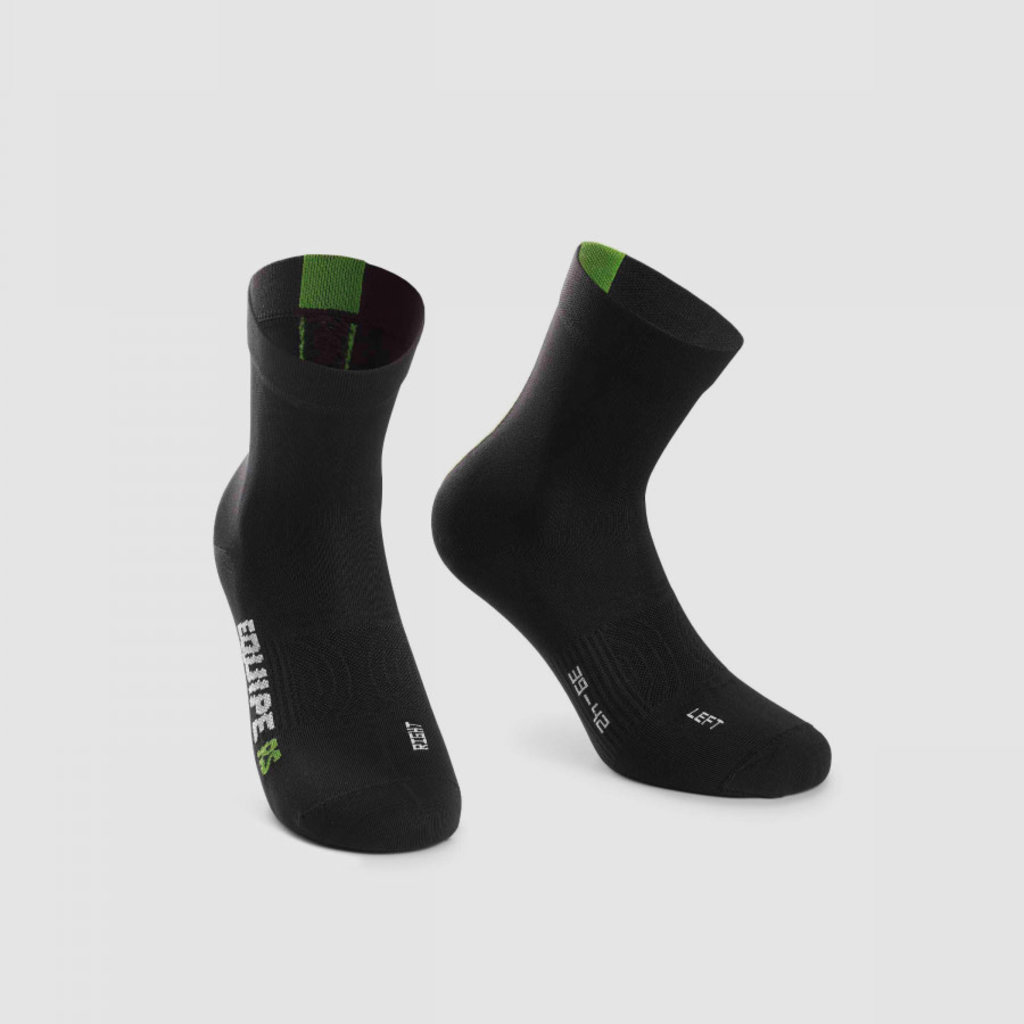 assos Assos Equipe RS Sock Data Green - Size: 1 (39-42)