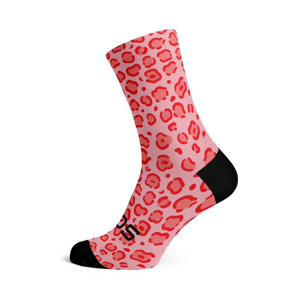 Sox Footwear Sox Footwear Socks Pink Leapord M