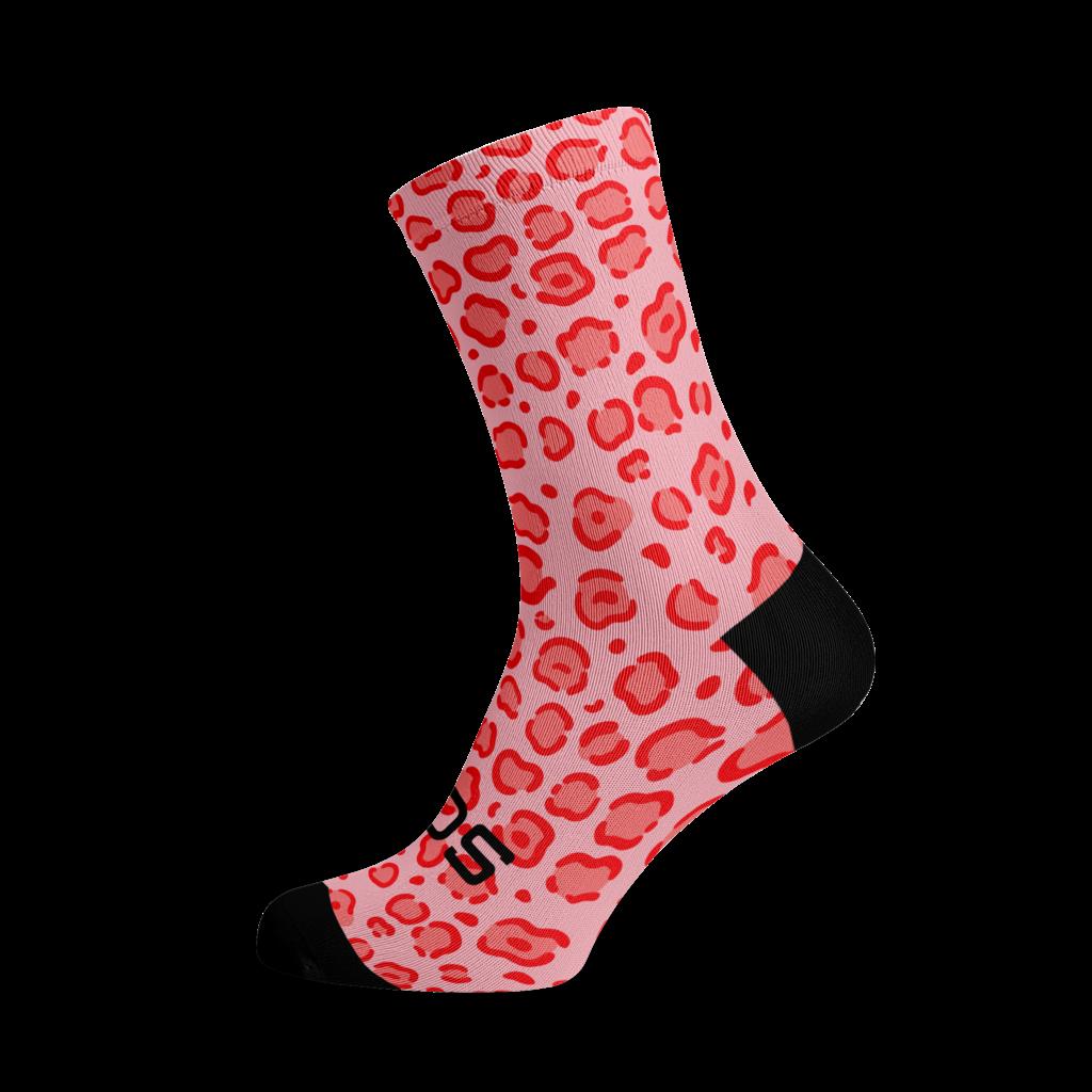 Sox Footwear Sox Footwear Socks Pink Leapord L