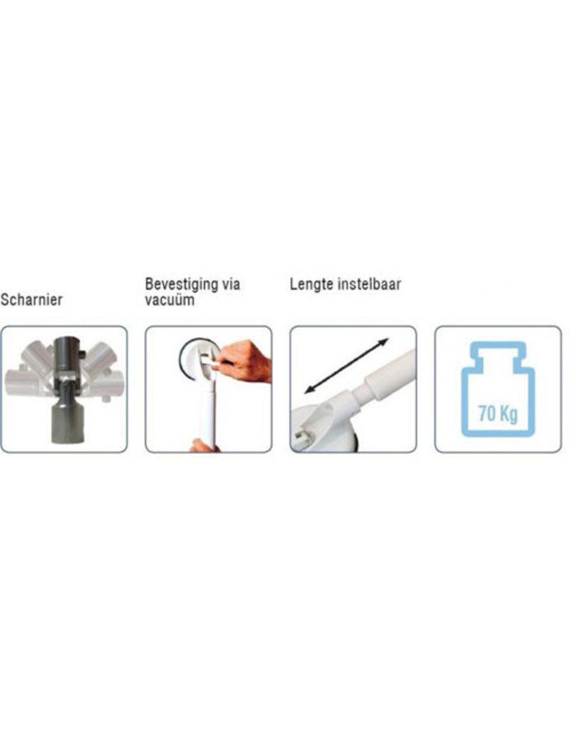 Wandbeugel Solido T - verstelbare lengte: 66,5-78 cm