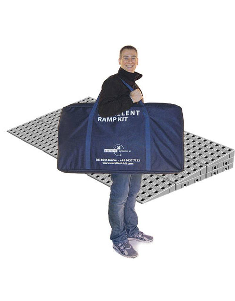 Drempelhulp modulair 7.8cm hoog Kit 2 met reistas