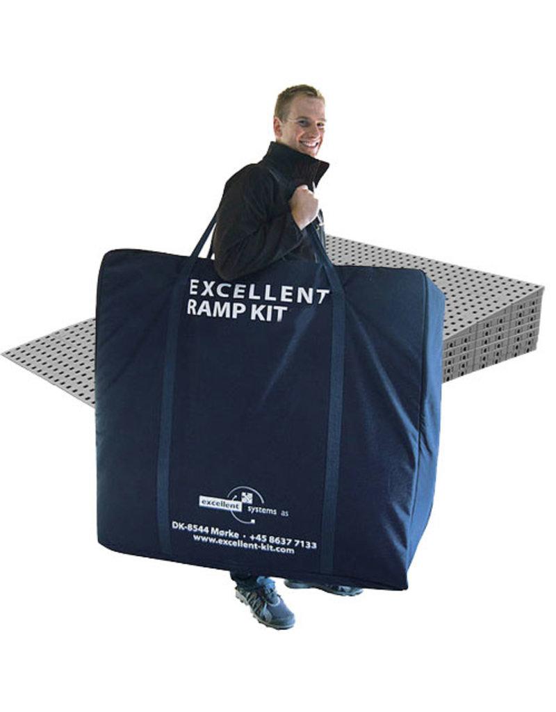 Drempelhulp modulair 15cm anti-slip met reistas