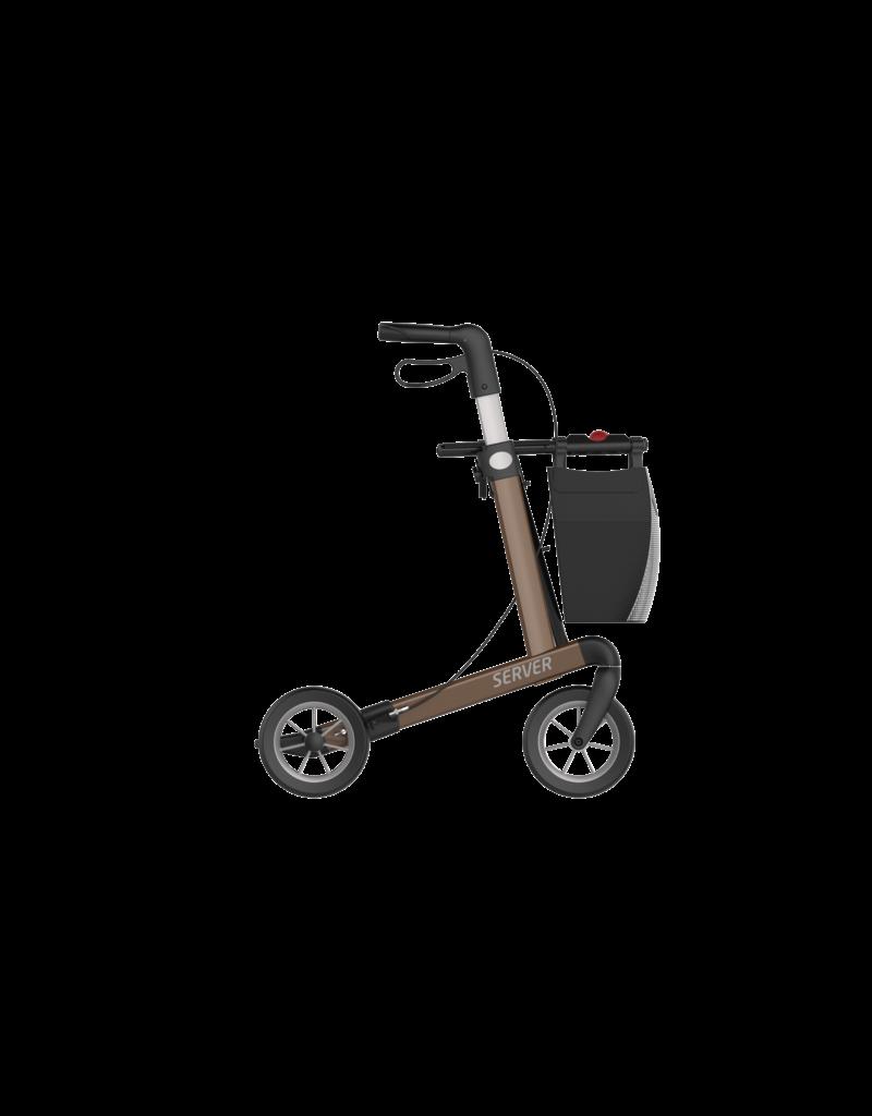 Lichtgewicht Rollator Server Comfort Compleet - Bruin