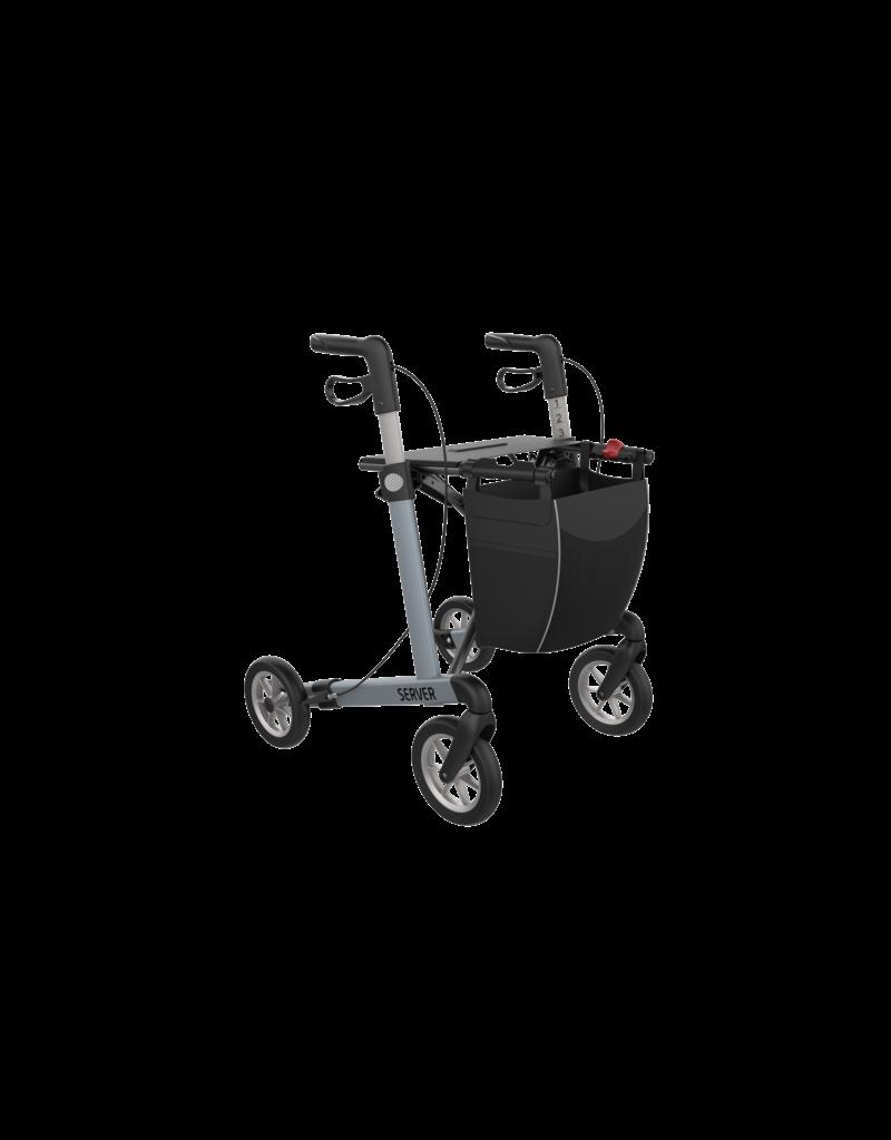 Lichtgewicht Rollator Server Comfort - IJsblauw