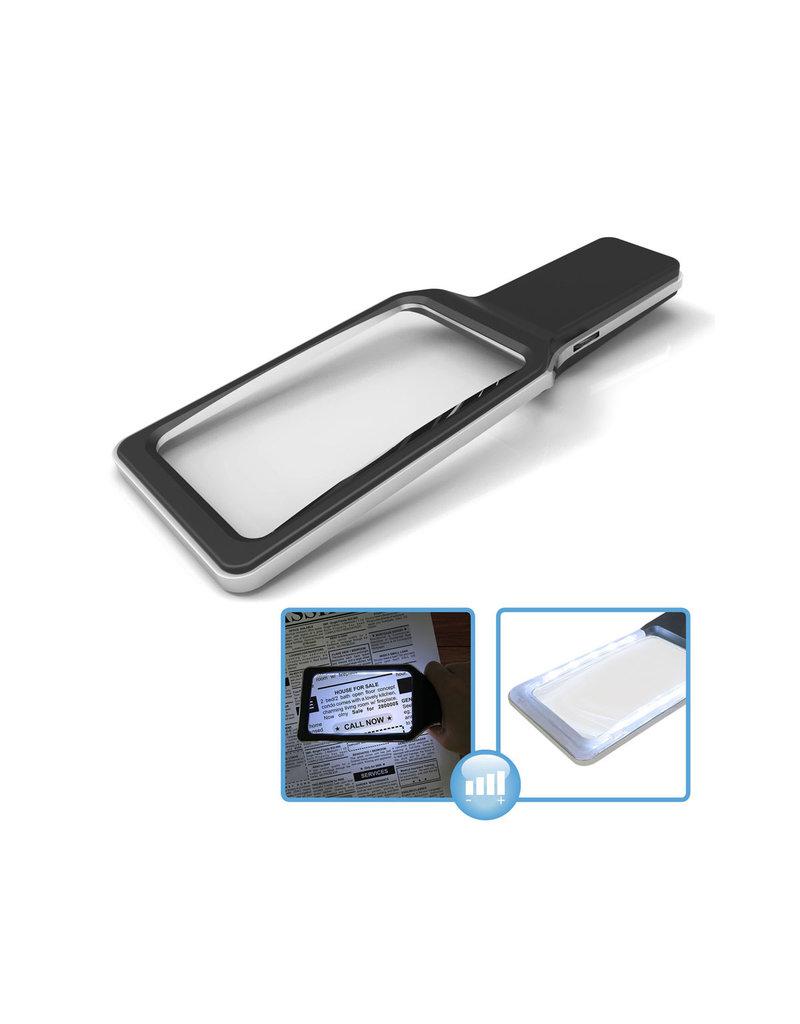 Handloep met LED 3x vergroting met dimmer