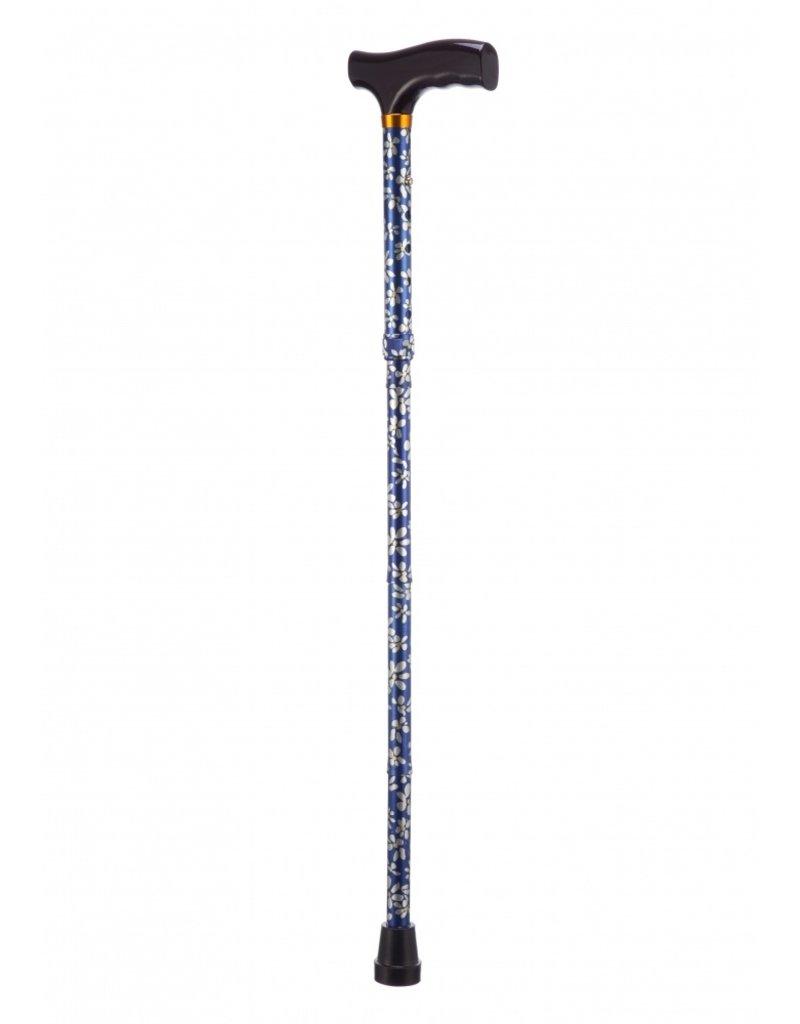 Opvouwbare wandelstok - gebloemd 84 - 94 cm