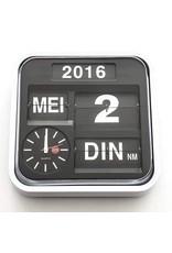 Kalenderklok LOW VISION DESIGN 32x32x11 cm