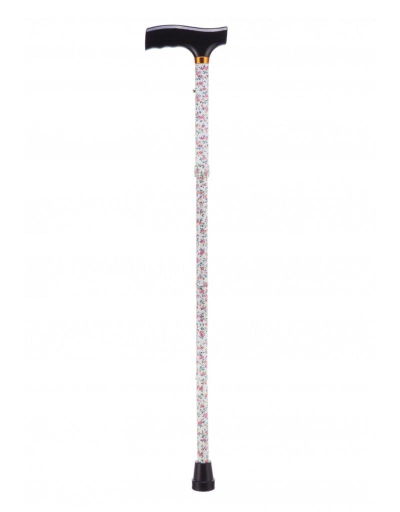 Opvouwbare wandelstok - Pink Flower 84 - 94 cm