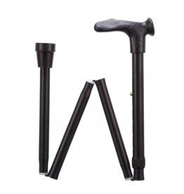 Opvouwbare wandelstok comfortgrip - Zwart rechts