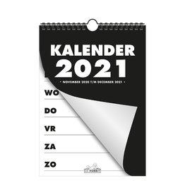 Slechtziend.nl B.V. Kalender met grote letters jaar 2021