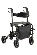 Duo rollator antraciet (rollator & rolstoel in 1)