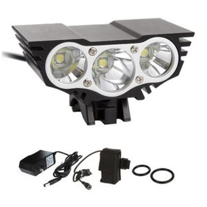 Ali 7500 lm 3x CREE T6 LED fiets koplamp waterproof zwart