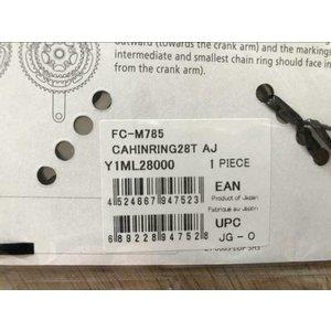 Shimano Shimano Deore XT FC-M785 kettingblad 28T 64 mm 10 speed