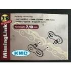 KMC KMC missing link 7/8-speed ketting, herbruikbaar, zilver