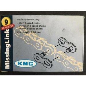 KMC KMC missing link 9-speed ketting herbruikbaar zilver