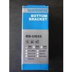 Shimano Shimano bottom bracket BB-UN55 - BSA - 68/127 mm trapas