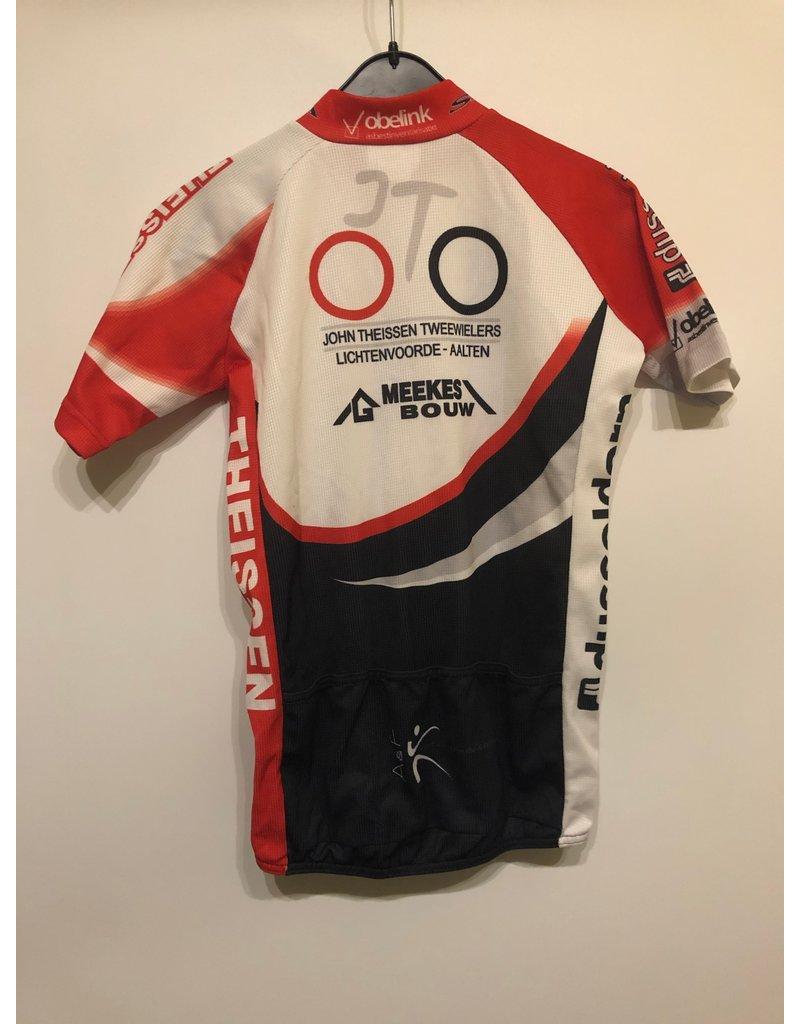Bioracer Bio Racer fietsshirt maat 164, korte mouw met vlekje