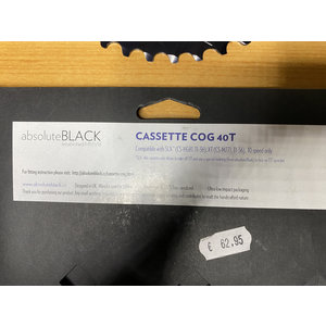 AbsoluteBlack AbsoluteBLACK Cassette Extensie Sprocket Cog 40 T