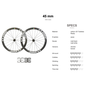 Cuore Cuore Carbon wielen voor disc remmen