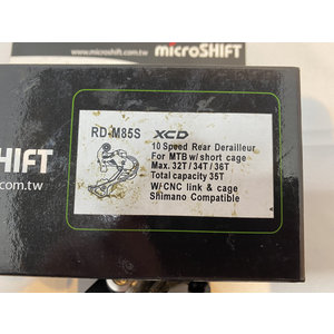 Microshift Microshift RD-M85 S XCD 10 speed MTB achterderailleur korte kooi