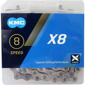 KMC KMX ketting X8 silver 8 speed