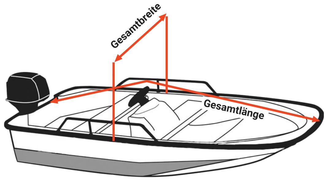 Konsolenboot vermessen