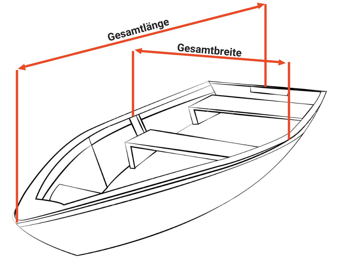 Offenes Boot vermessen