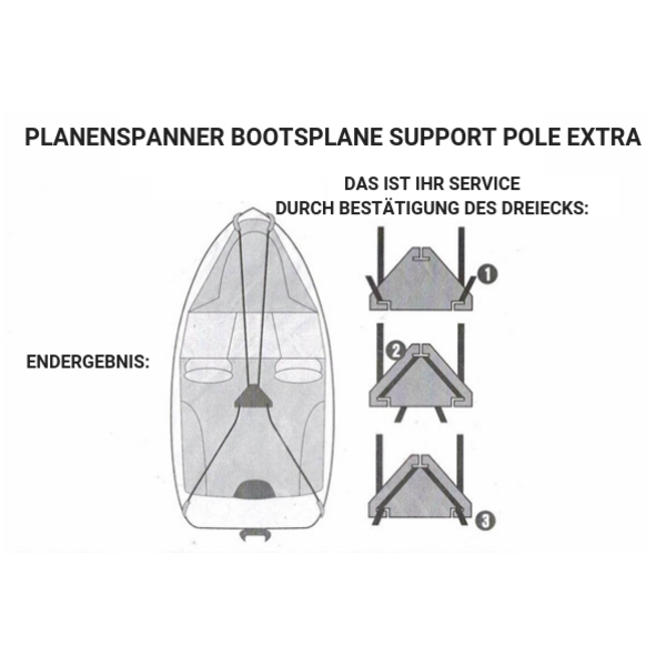 Planenspanner Bootsplane Support Pole Extra