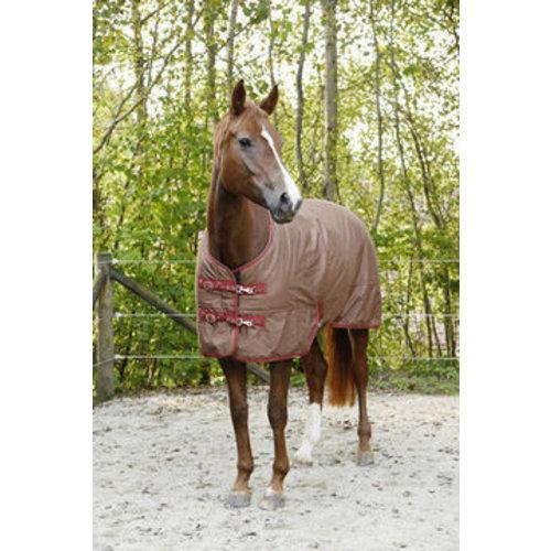 Hofman animal care ICE PROTECT RUGBE WINTERDEKEN 300 DONKERBRUIN/ROOD