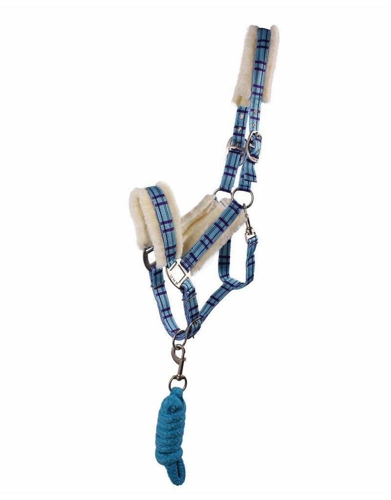 QHP Halsterset bont - blauw