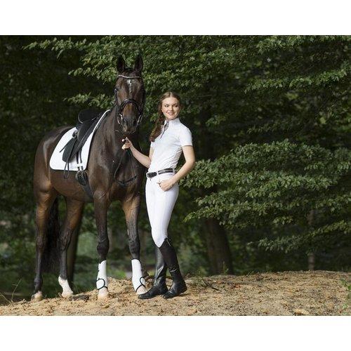 QHP Rijbroek Jill anti-slip zitvlak - Wit