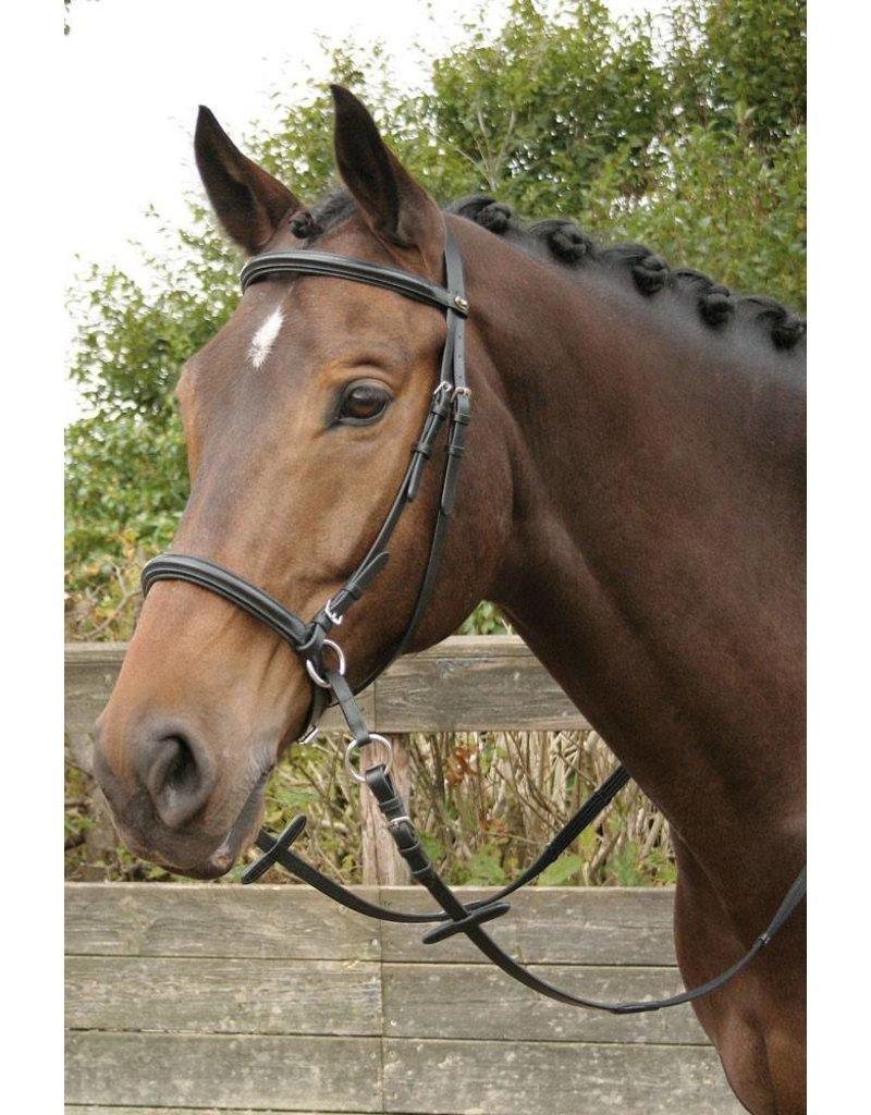 Harry's Horse Hoofdstel Bitloos Kaakgekruist, zwart