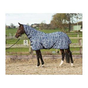 Harry's Horse Vliegendeken zebra mesh met hals & singels