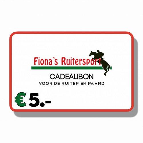 Cadeaubon €5.-