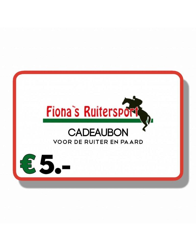 Cadeaubon T.w.v €5.- euro