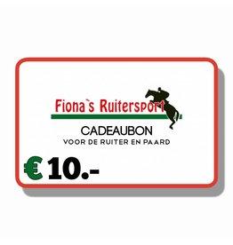 Cadeaubon €10.-